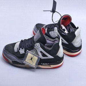 Nike Air Jordan 4 Retro Black Red Michael Jordan AJ4 Generation Middle School Re
